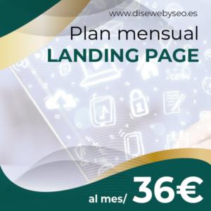 PLAN de landing page en DISEWEBYSEO