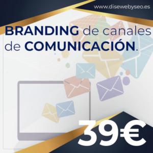 branding de CANALES de COMUNIcaCION para DISEWEBYSEO