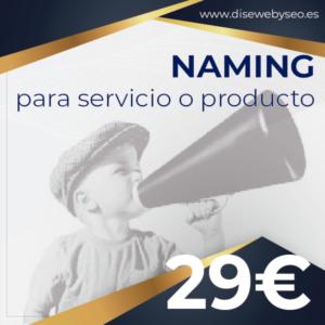naming de servicio o producto en DISEWEBYSEO
