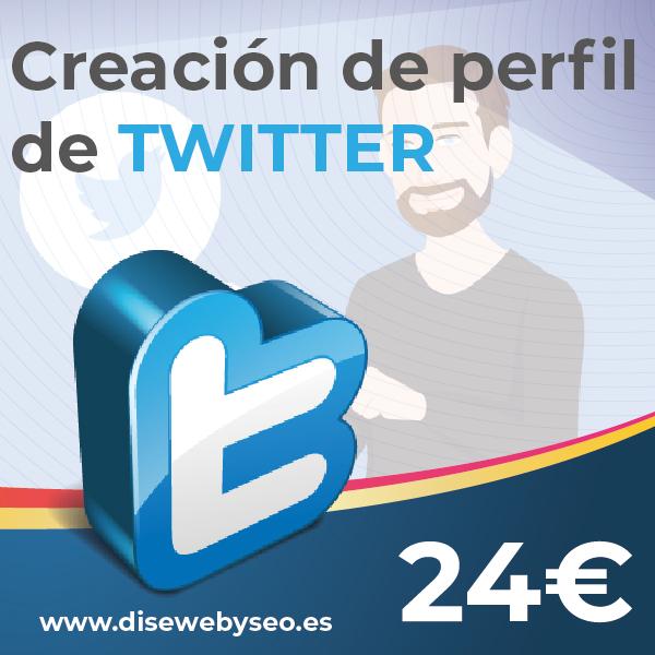 perfil para twitter desde Disewebyseo